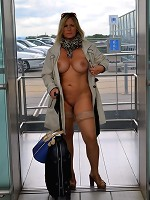 NudeChrissy-Nude To The Airport Pictures
